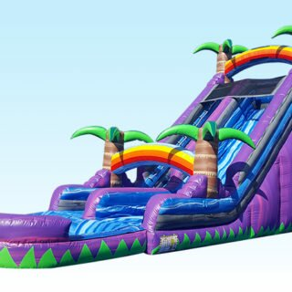 PenguinsUp 24ft Purple Tropical Water Slide