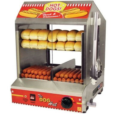 PenguinsUp Vintage Hot Dog Cart with Umbrella