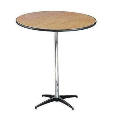 PenguinsUp 30 Inch Round Belly Bar Table