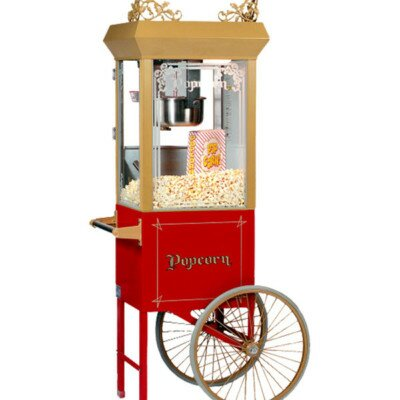 PenguinsUp Vintage POPCORN MACHINE Cart
