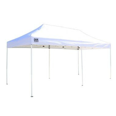PenguinsUp 10*20 Commercial White Pop Up Canopy (200 sq. ft Coverage)