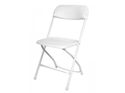 PenguinsUp Premium Plastic Folding Chair, White for adult