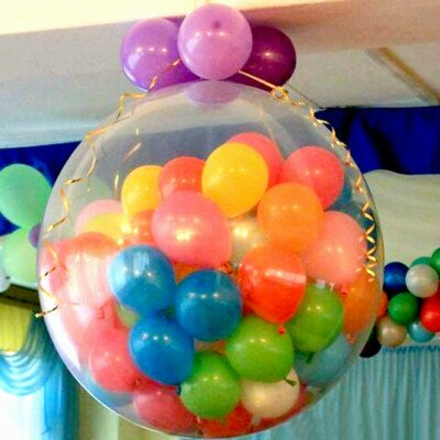 Surprise-Balloons , birthday huge balloon with confetti, soft toys and small balloons