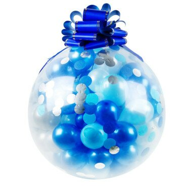 PenguinsUp Blue Rain 36''/100psc Surprise-Balloon