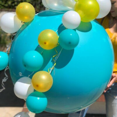 "PenguinsUp <b style=""font-size: 15px;"">36'/100Pcs MultiColor Surprise-Balloon</b>"